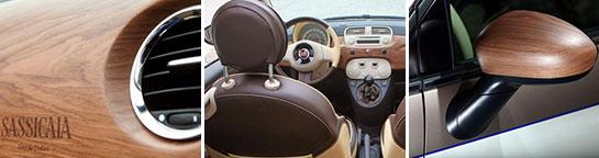 Detalles Fiat 600 Sassicaia
